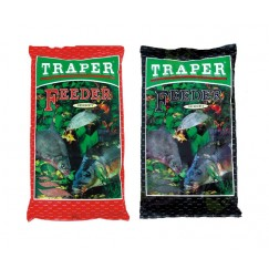 Прикормка TRAPER SEKRET 1 kг Feeder (черный, красный)